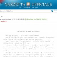 Coronavirus in Italy: the Decree of March 25 no. 19 sets up to five years in jail and € 3000 in fines for violating rules