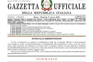 "Decree-law March 17, 2020 no. 18 ""Cura Italia"""