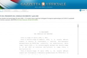 Coronavirus in Italy: the Decree of April 1 extends the lockdown until April 13, 2020
