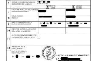 How can I know if my birth or marriage has been registered with the Comune di Roma?